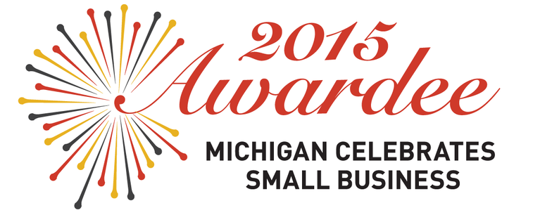 image of the michigan celebrates small business award 2015 seal