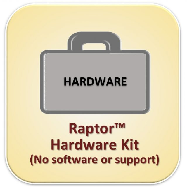 RAPTOR HARDWARE KIT--COMPONENTS ONLY, NO SOFTWARE
