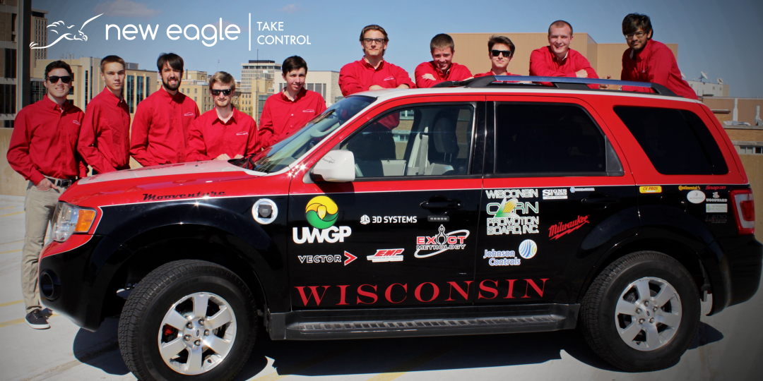 picture of the university of Wisconsin madison electric hybrid team